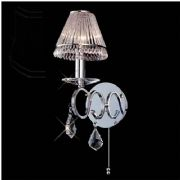 Torino Single Wall Light in Polished Chrome and Crystal, Switched - DIYAS IL30311